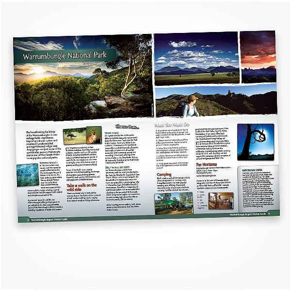 tourism brochure design ideas - photography and design for tourism brochures